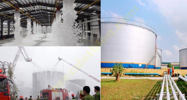 Hệ thống bọt Foam có thể thi công lắp đặt ở khu vực trong nhà và ngoài trời